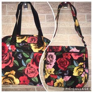 Vera Bradley Havana Rose Travel/Crossbody set